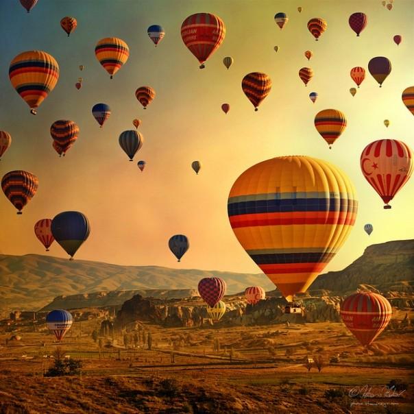 Paseo en globo aerostático en grupo